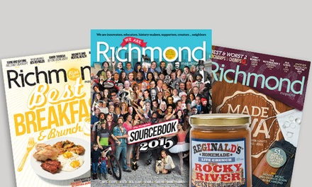 "$17 for a Two-Year Subscription to ""Richmond"" Magazine ($34 Value)"