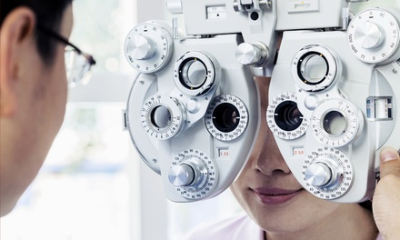 Eye Exam, Credit Toward Lenses and frames, or Both at Eyes All Over  (Up to 84% Off)