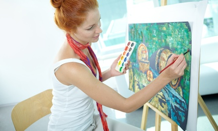 $45 for a Three-Hour Painting Class for Two at Pinot's Palette-Dallas - Lakewood ($90 Value)