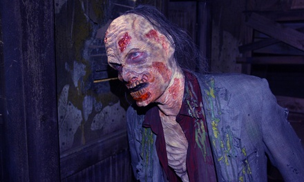 $24.99 for Apocalypse Live-Action Zombie Experience for Two Presented by 13th Floor Haunted House ($49.98 Value).