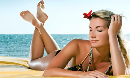 Two or Three VersaSpa Spray Tans or One Month of Bronze or Gold Level Tanning at Sun Your Buns (Up to 63% Off)
