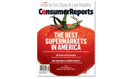 One-Year Print Magazine Subscription, One-Year Online Subscription, or Both from Consumer Reports (50% Off)