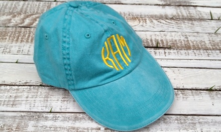 One, Two, or Four Monogrammed Baseball Caps from Embellish Accessories and Gifts (Up to 55% Off)