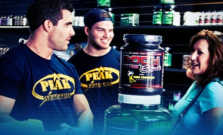 $19 for $40 Worth of Vitamins and Supplements at Peak Nutrition