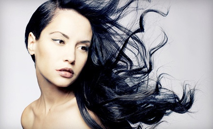 Haircut Package with Optional Partial or Full Highlights at Sarah's Hair Designs at Studio 82 and Studios (53% Off)
