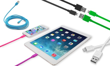 1 or 2 Aduro Apple-Certified 3-, 6-, or 10-Foot Lightning-to-USB Cables