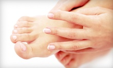 One or Two Shellac Manicures and Happy Toes Pedicures at Facials Unlimited Day Spa (Up to 55% Off)
