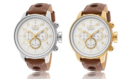 groupon daily deal - Invicta S1 Rally Men's Chronograph Watch in Stainless Steel or Gold-Plated Stainless Steel. Free Returns.