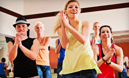 4, 10, or an Unlimited Month of Zumba, Latin Fusion, or Kickboxing Classes at My Favorite Cardio Place (Up to 72% Off)