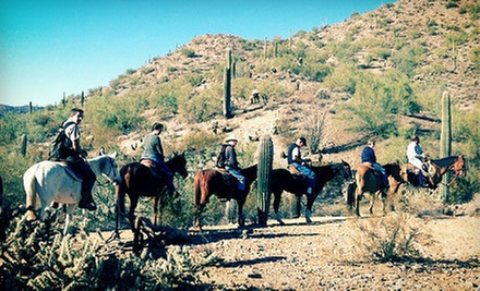 Two-Hour Horseback Trail Ride for Two or Four from MD Ranch (Up to 52% Off)