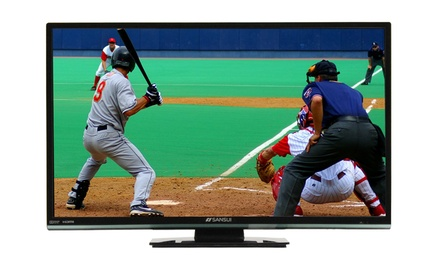 "groupon daily deal - Sansui 24"" LED TV/DVD Combo (Manufacturer Refurbished). Free Returns."