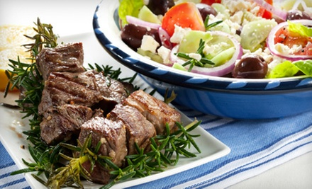 Greek Cuisine for Dinner at Tassos (Half Off). Two Options Available.