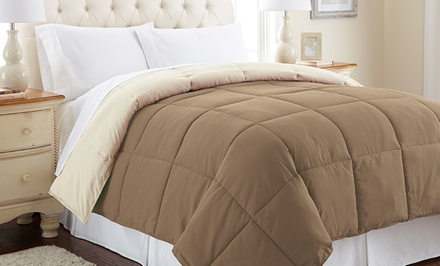 Reversible Down-Alternative Comforter; Multiple Sizes from $24.99–$34.99