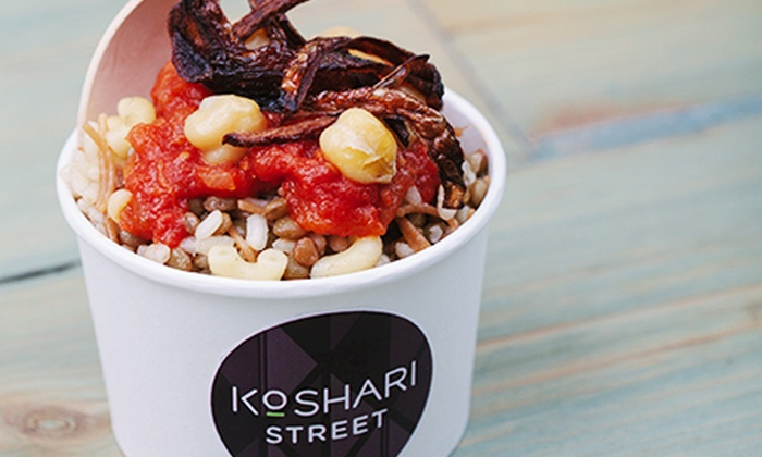 Koshari Street - London: Egyptian Street Food With Drink from £5 at Koshari Street, Covent Garden (Up to 56% Off)