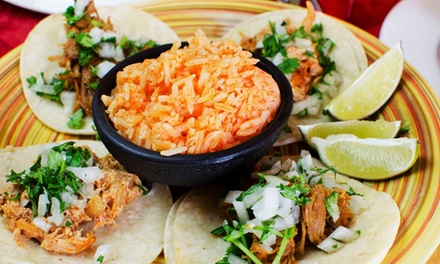 Mexican Meal for Two or Four with Apps, Entrees, and Drinks at Cafe del Sol (Up to 44% Off)