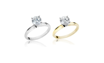 1.50 CTW Certified Diamond Ring in 14-Karat White or Yellow Gold