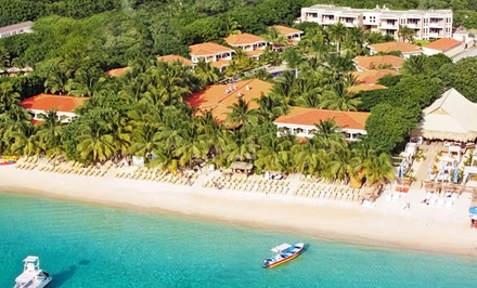 groupon daily deal - 3-, 5-, or 7-Night All-Inclusive Stay for Two at Mayan Princess Beach & Dive Resort in Honduras; Includes Taxes and Fees