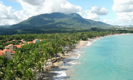 groupon daily deal - All-Inclusive Stay for Two at Puerto Plata Village in Dominican Republic. Dates into December. Includes Taxes and Fees.