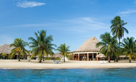 groupon daily deal - 4- or 6-Night Stay with Welcome Drinks at Jaguar Reef Lodge and Spa in Belize