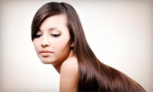 Keratin Treatment with Optional Haircut and Style at Vanity Salon and Spa (Up to 67% Off)