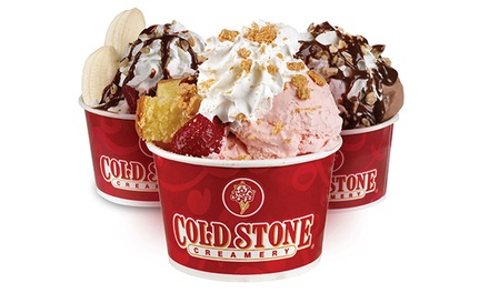 Two Ice-Cream Creations with Optional Kids Items or Ice-Cream Cake at Cold Stone Creamery (Up to 47% Off)