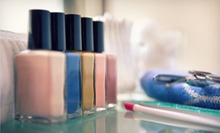 One or Two Mani-Pedis at Luxe Parlor & Blowdry Bar (Up to 51% Off)