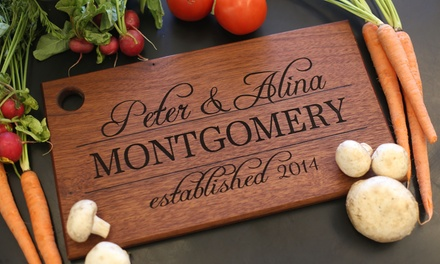 One or Two Extra-Large Custom Cutting Boards from Morgann Hill Designs (Up to 53% Off)