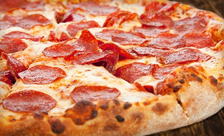 "One 14"" Specialty Pizza with an Optional 12"" One-Topping Pizza at Brick Oven Pizzeria (Up to 51% Off)"