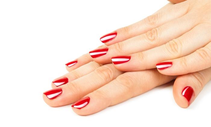 No chip shellac gel polishes nail bar spa groupon for 10 over 10 nail salon