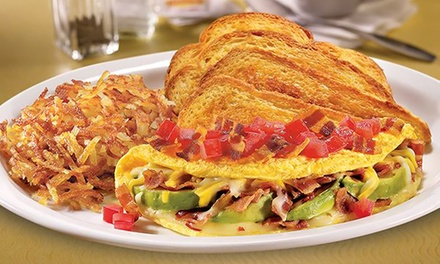 Diner Food at Denny's (Up to 37% Off). Two Options Available.