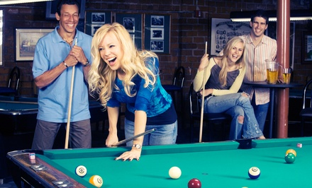 Billiards, Bar Food, and Drinks or a Three-Hour Party-Room Rental at South First Billiards (Up to 47% Off)