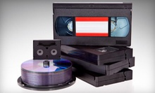 Four, Six, or Eight Hours of Tape-to-DVD Transfers at Keepsake Family Tree Video (Up to 55% Off)