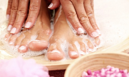 Spa Mani-Pedi or Gel Manicure and Spa Pedicure for One or Two at Academy of Nail Technology (Up to 46% Off)