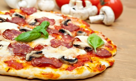 $18 for $30 Worth of Gourmet Pizzas, Calzones, and Salads at Basil Doc's Pizzeria