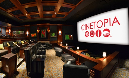 $19 for a Movie and Drinks for Two at Cinetopia (Up to $49 Value)