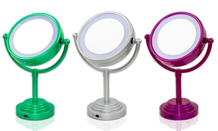 LED Tabletop Lighted Cosmetic Mirror
