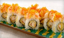 $25 for a Two-Roll Sushi Dinner with an Appetizer and Two Glasses of Sake or Soft Drinks for Two or More at Sushi Blvd ($50.30 Value)