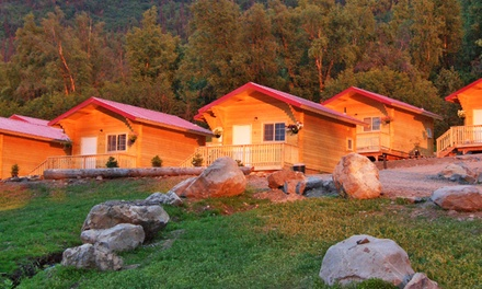 Groupon Deal: 1-Night Stay for Two in a Cabin with Breakfast at Knik River Lodge in Palmer, AK. Combine Up to 2 Nights.