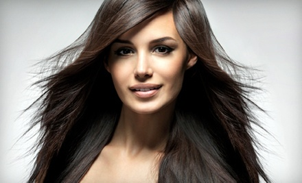 Haircut with Optional All-Over Color or Full-Foil Highlights at Salon Cyril (Up to 59% Off)