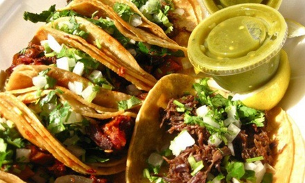 Mexican Food at Tacos Y Mas (50% Off). Two Options Available.