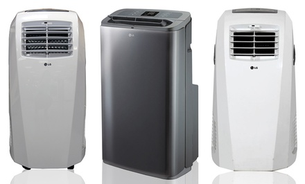 LG Portable Air Conditioners (Refurbished). Multiple Models Available from $199.99–$249.99.