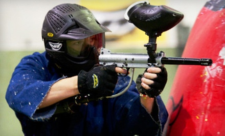 Paintball for Four or Eight with Gear, Unlimited Air Fills, and Paintballs at Rampage City Paintball (Up to 80% Off)