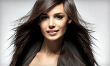 Haircut and Style with Option for Single-Process Color or Half Highlights at Extravaganza! Hair Designs (Up to 72% Off)