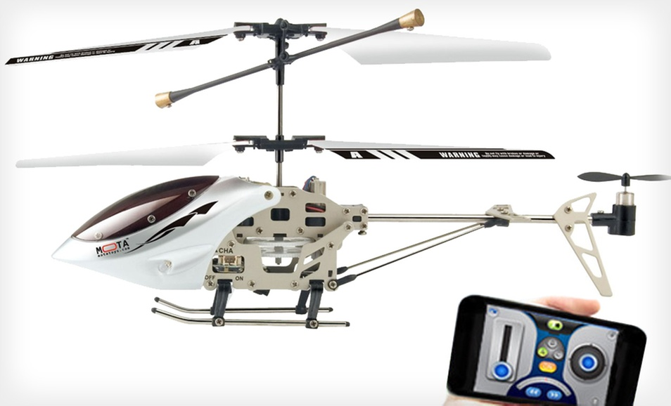Mota iPhone-Controlled Helicopter with Three Channel Radio Control