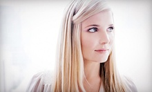 Haircut, Style, and Partial Highlights or CHI Straightening Treatment from Hair by Crystal (Up to 67% Off)