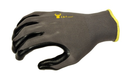 6 Pairs of Nitrile Coated All-Purpose Gloves