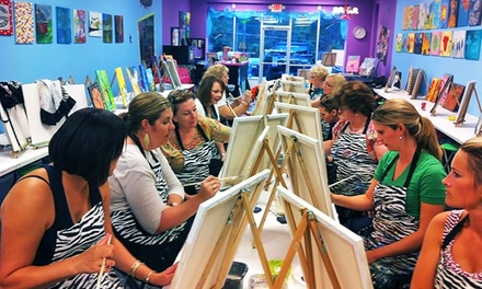 $15 for a Painting Class for One at Corkscrews and Canvas ($29 Value)