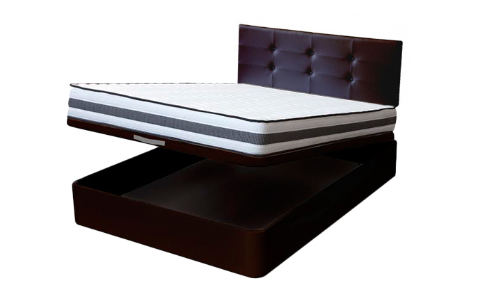 Canap con cabecero y colch n groupon goods for Canape 90x190