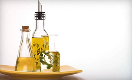 Olive Oil Tasting, Olive Oil, and Gift Cards for Two or Four at Carter & Cavero Old World Olive Oil Company (Half Off)
