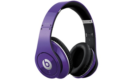 groupon daily deal - Beats by Dre Studio Headphones in Purple.